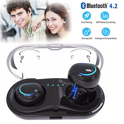 Headset Headphones Earbuds - Mini True Wireless Sport Earbuds Headset Bluetooth HIFI In Ear Stereo Headphones