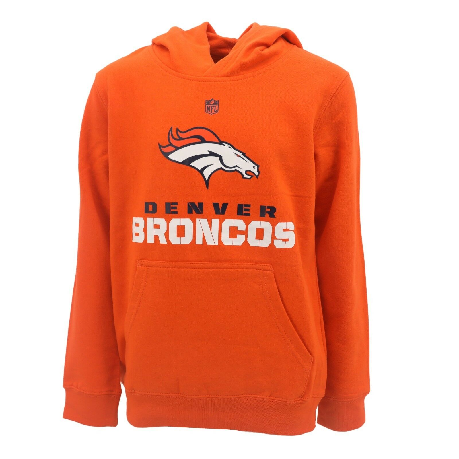 c0afd106 Details about Denver Broncos Official NFL Apparel Kids Youth Size Hooded  Sweatshirt New Tags