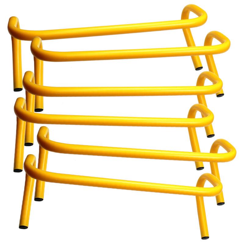 "6"" INCH STEP HURDLE (LOT OF 6) MINI BANANA SPEED AGILITY PE TRACK RUNNING JUMP"