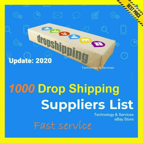 1000 DropShipping Suppliers List ✅ $0.99 ✅ Drop Shipping ✅ UPDATE 2020✅