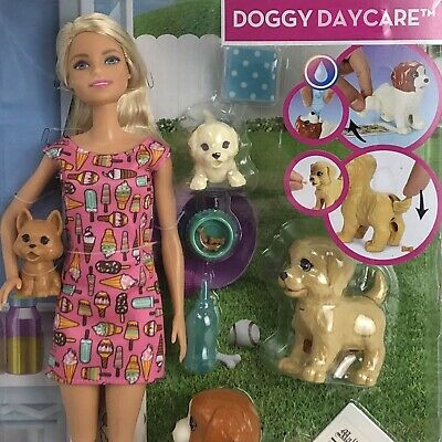 Barbie You Can Be Anything Doggy Daycare Doll Blonde Pets Accessories New