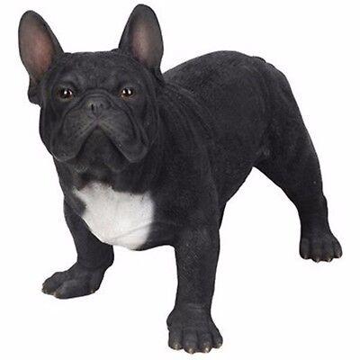 NEW BLACK FRENCH BULLDOG Dog Figurine -Life Like Figurine Statue Home / Garden