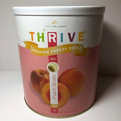 Thrive Shelf Reliance, Premium Freeze Dried Peach Slices, #10 Can, 45 Servings Freeze Dried Peaches