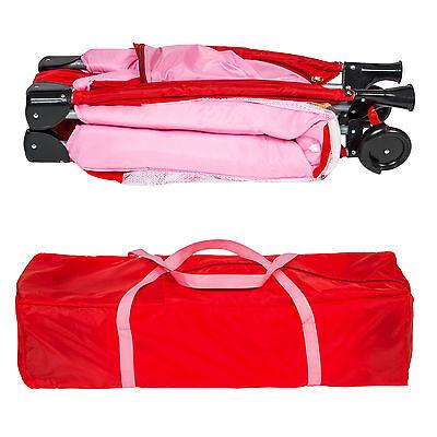 Reisebett Kinderreisebett Kinder Baby Babybett Kinderbett mit Einlage pink