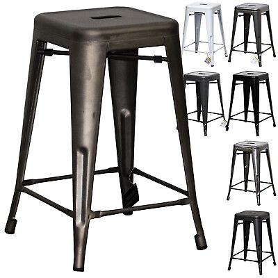 Metal Breakfast Bar Stool Seat Chair Industrial Rustic Vintage Tolix Bistro Cafe