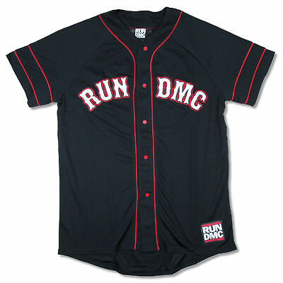 Run DMC Hollis 82 Black Baseball Jersey Shirt New Official Merch Black Baseball Jersey Shirt