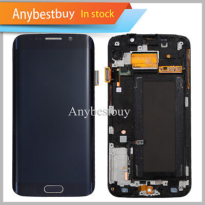 Samsung Galaxy S6 Itchy SM-G925F LCD Digitizer Touch Screen Assembly Frame Blue