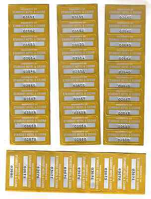 100   Stardust Hotel Casino Las Vegas  Nevada Serial Number Stickers   100