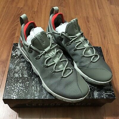 separation shoes e5ec5 f6372 Nike LeBron XIV Low Dark Stucco Military Green 878636-003 Size 13