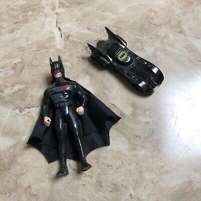 Vintage Batman Bruce Wayne Action Figure And Car Ertl Batmobile 1989