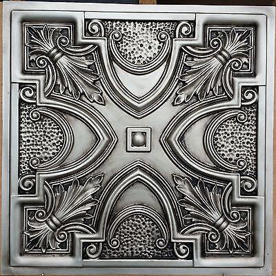 PL11 Faux tin antiqued silver ceiling tiles tea bar decor wall panels 10tile/lot