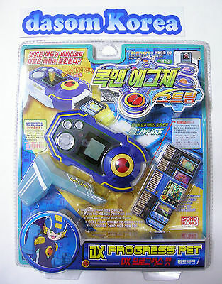 NEW TAKARA Rockman EXE (Mega Man) : DX PROGRESS PET SET BLUE (Korean  Ver.)