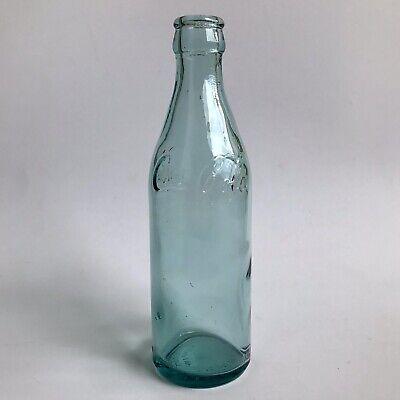 VTG 1999 COCA-COLA Straight-Side Empty Bottle Blue Glass Embossed Coke Glassware