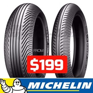 ★★ NEW Michelin Power RAIN Motorcycle Tires ★★ Track Race Wets
