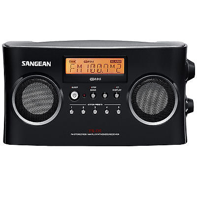 Sangean Pr D5bk Am Fm Portable Radio With Digital Tuning And Rds  Black New
