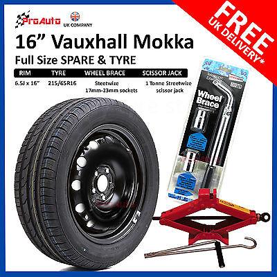 "VAUXHALL MOKKA 2012-2019 16"" FULL SIZE STEEL SPARE WHEEL AND TYRE + TOOL KIT"
