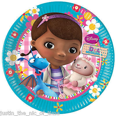 DOC McSTUFFINS Girls Birthday Party Supplies Tableware Small 20cm PLATES x8 ()