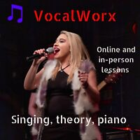 Singing, theory and piano lessons- Online and in person!