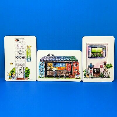 Nintendo Video Game Console House Series Art Cards - Switch Wii Gameboy