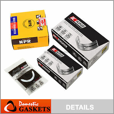 Fit 97-01 Honda CR-V 2.0 DOHC Main Rod Bearings and Piston Rings Set B20B4 B20Z2 Dohc Piston Rings