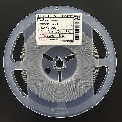 50pcs Tantalum Capacitor Smd 6.3v10uf 10uf 6.3v Nec Teesvp0j106m8r 0805 P Type