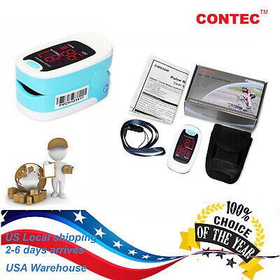 Us Stock Fingtip Pulse Rate Oximeter Spo2 Monitor Blood Oxygen Pr Free Case 50m1
