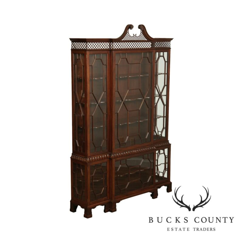 Baker Stately Homes Collection Mahogany Chippendale Style Display Cabinet