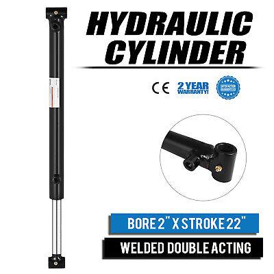 Hydraulic Cylinder 2 Bore 22 Stroke Double Acting Garden Equipment Steel