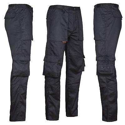 Arbeitshose Multifunktion Cargo Bundhose schwarz Freizeit Berufskleidung leicht