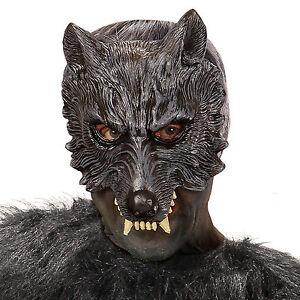 [ Kinnlose Wolfmaske für Erwachsene ] Wolf Maske, Wolfsmaske für Halloween, Neu