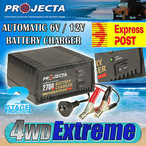 PROJECTA AC400 6 & 12 VOLT AUTOMATIC BATTERY CHARGER, CAR BIKE BOAT TRICKLE