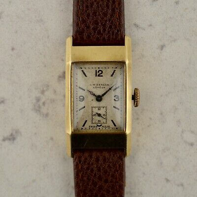 c1936 Vintage Cyma-Tavannes by J.W Benson London cal. 334 in 9k rose gold for sale  Shipping to Ireland