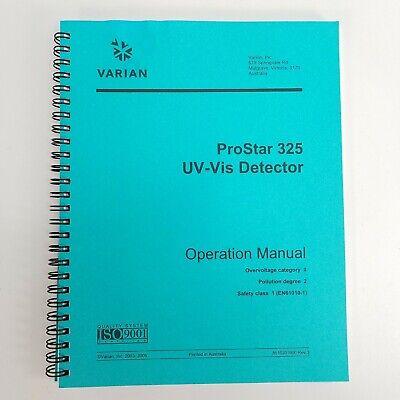 Varian Prostar 325 Uv-vis Detector Operations Manual