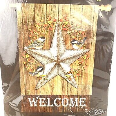 "Briarwood Lane Welcome House Flag Harvest Barnstar Fall 28"" x 40"" Farmhouse Nip"