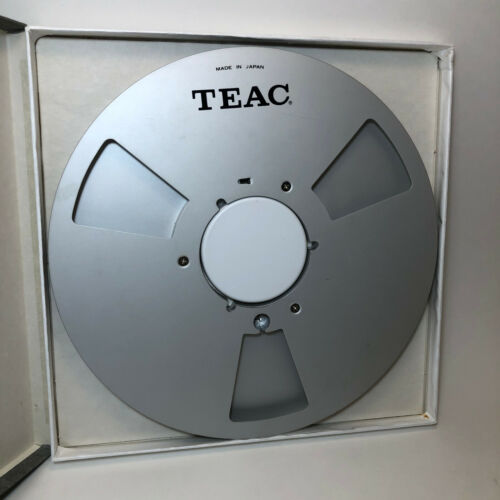 """Teac Metal Take Up Reel For 1/4"""" Tape w/ Replacment Box"""
