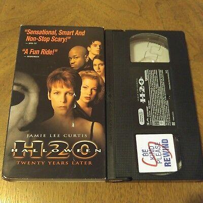 HALLOWEEN H20 VHS JAMIE LEE CURTIS HORROR MICHAEL MYERS LL COOL J ()