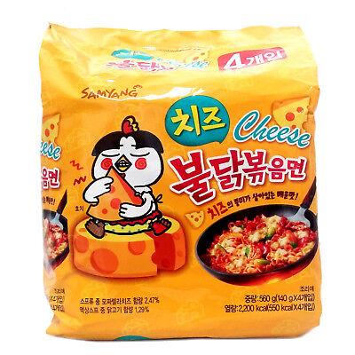 4 Packs Korea Samyang Food Hot Stir Spicy Noodle Chicken Flavor Ramen Cheese_Ac