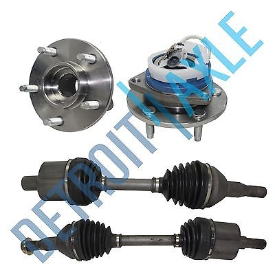 2 Front left & right CV Axle Drive Shaft FWD 2 New Wheel Hub Bearing ABS exc SS Chevrolet Impala Front Wheel Drive