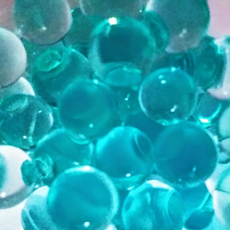 1 BAG 400pcs. BLUE GREEN 8-10MM WATER BEADS BLASTER AMMO CRYSTALS ORBEEZ DECOR.