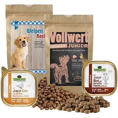 Schecker Testpaket f. Welpen Hundefutter Trockenfutter Nassfutter  1,6 kg