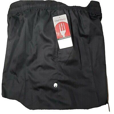 Chef Works Mens Essential Baggy Chef Pants 2xl. Elastic Waist. 32 Inseam