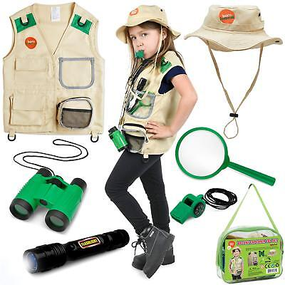 Backyard Safari Vest and Costume with Binoculars for Kids and Kids Flashlight](Safari Costume For Kids)