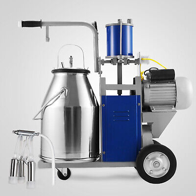 25l Electric Milking Machine Ideal Equipment For Farm Cows Wbucket Vacuum Pump