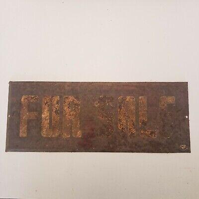 Vintage For Sale Metal Sign 9x3.5