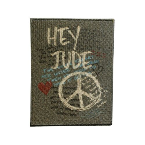 Lennon & McCartney Hey Jude Embroidered Iron On Patch - Licensed 066-N