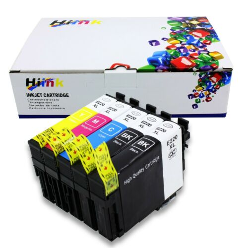 5PK 220XL Ink For Epson XP-320 XP-420 XP-424 WF2630 WF2650 WF2660 WF2750 2760