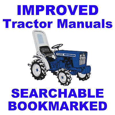 Ford 3400 3500 3550 4400 Tractor Repair Service Manual - Searchable Indexed Cd