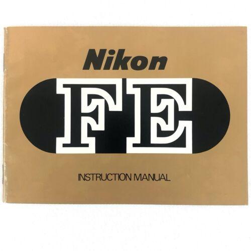 Nikon FE Camera Instruction Manual User Guide English