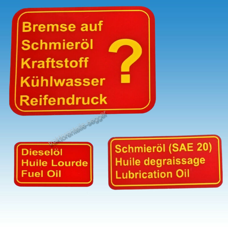 Aufkleber - Satz Aufklebersatz für Holder B 12 Traktor Schlepper 01585 Foto 1