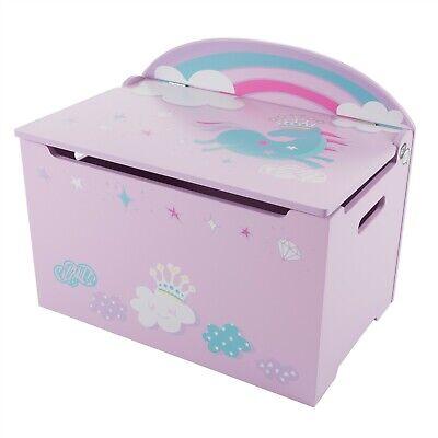 Baby Toddler Toy Box Storage Bench Unicorn Rainbow Kids Room Organizer Storage Toy Box Bench